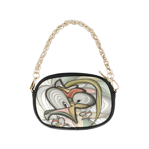 Organic abstracts Chain Purse (Model 1626)