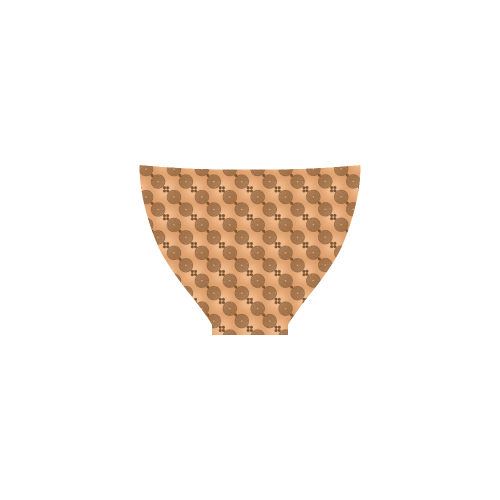 Brown Chocolate Wheels Pattern Custom Bikini Swimsuit