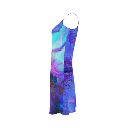 purple and blue abstract Alcestis Slip Dress (Model D05)