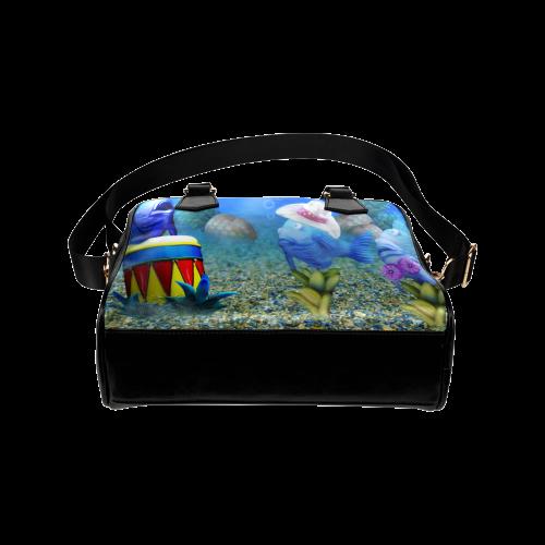 The Singing Fish Shoulder Handbag (Model 1634)
