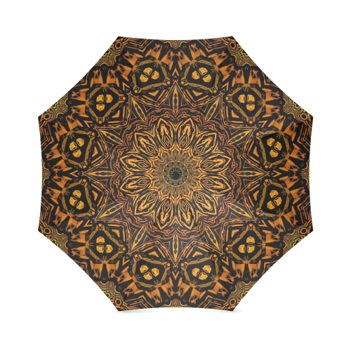 Golden Mandala Foldable Umbrella