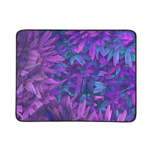"Purple Jungle Beach Mat 78""x 60"""