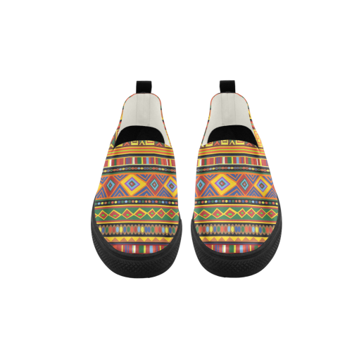 Ethnic Colorful Pattern Africa Art Apus Slip-on Microfiber Men's Shoes (Model 021)