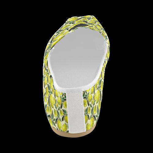 Lemon Juicy Vintage Pattern Unisex Casual Shoes (Model 004)