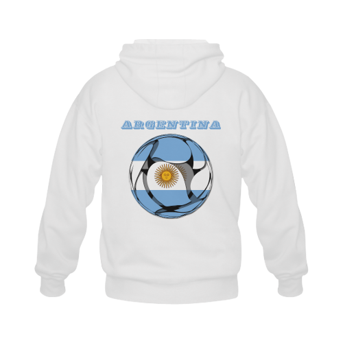 The Flag of Argentina Gildan Full Zip Hooded Sweatshirt (Model H02)