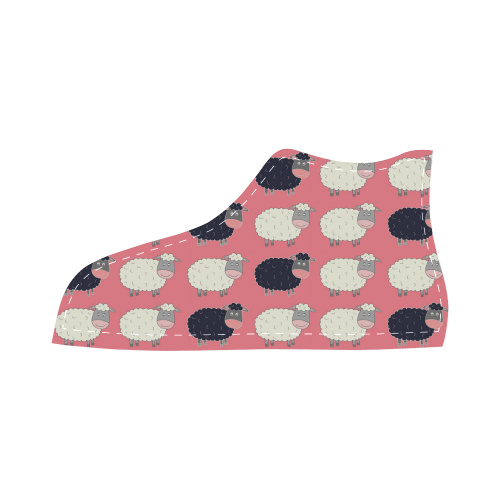 Counting Sheep High Top Canvas Kid's Shoes (Model 002)
