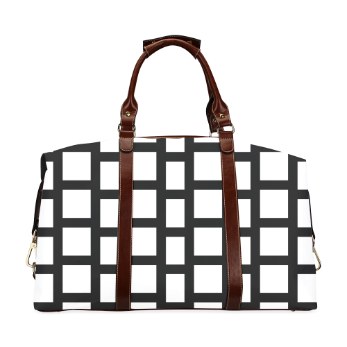 Beautiful Vintage Black and White Edition Classic Travel Bag (Model 1643)