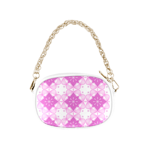 Exclusive Pink Mandala Artistic Series - Gold and Pink Chain Purse (Model 1626)