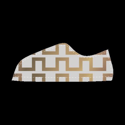 2_exclusive_gold Women's Canvas Shoes (Model 016)