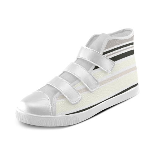 Striped Fashion Edition Vintage 66 Velcro High Top Canvas Kid's Shoes (Model 015)