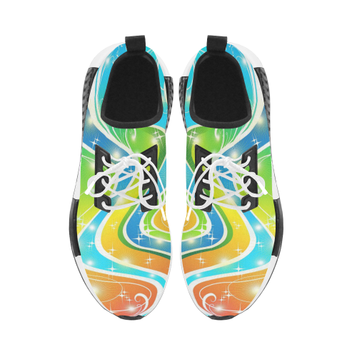 Swirls Festive Bright Abstact Colors Men's Draco Running Shoes (Model 025)