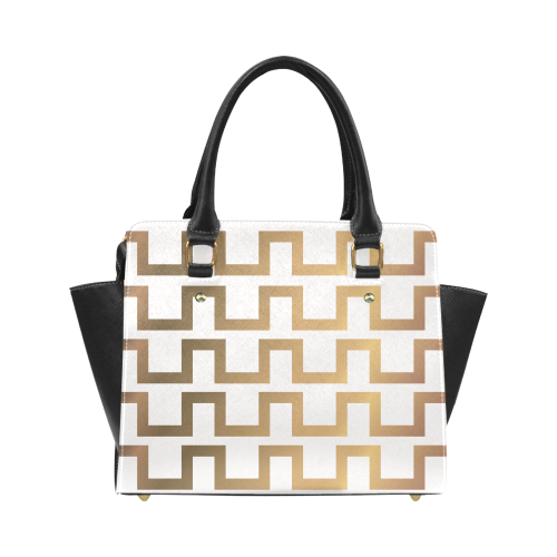 Exclusive Luxury Gold Bag 20s & 30s Inspired Set Classic Shoulder Handbag (Model 1653)