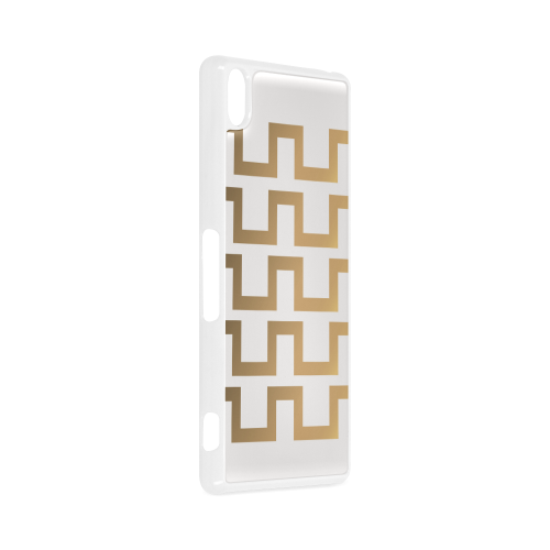 Exclusive Gold and White Design Hard Case for Sony Xperia Z3