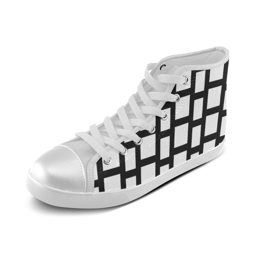 Exclusive Black Series Women's High Top Canvas Shoes (Model 002)