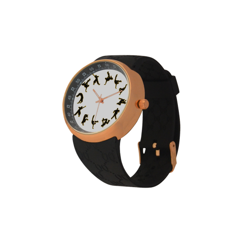 Conceptual Novelty B Boy Break Dancer Men's Rose Gold Resin Strap Watch(Model 308)
