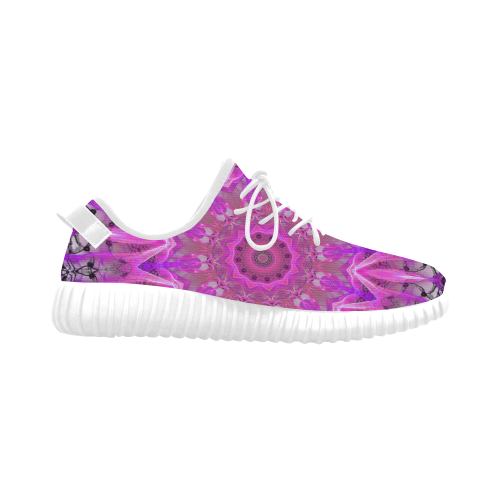 Lavender Lace Abstract Pink Light Love Lattice Grus Women's Breathable Woven Running Shoes (Model 022)
