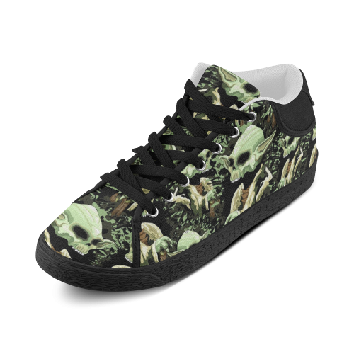 Yoda Jedi Master Skull Women's Chukka Canvas Shoes (Model 003)