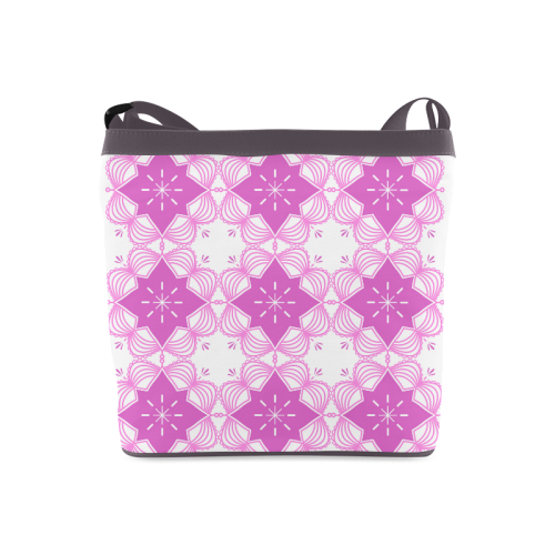 Pink and White Mandala Art Luxury Bag 60s Inspired Fashion Crossbody Bags (Model 1613)