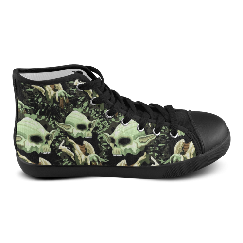 Yoda Jedi Master Skull Men's High Top Canvas Shoes (Model 002)
