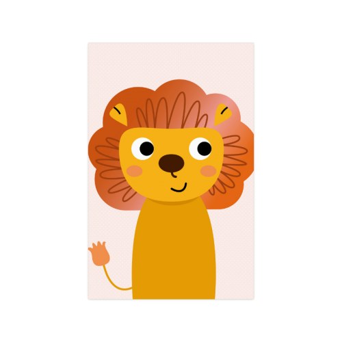 "Beautiful cartoon Lion Poster for Kids Rooms Poster 11""x17"""