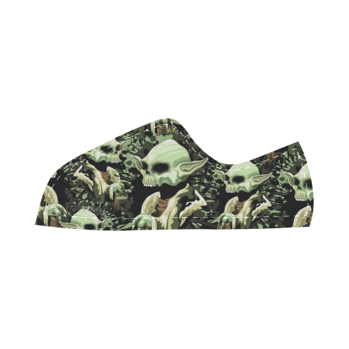 Yoda Jedi Master Skull Canvas Kid's Shoes (Model 016)