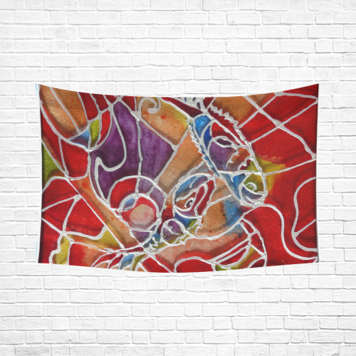 """180 Cotton Linen Wall Tapestry 90""""x 60"""""""