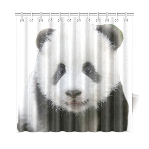 Panda Bear Shower Curtain 72x72