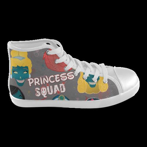 2b9453696bd1b princess squad High Top Women's High Top Canvas Shoes (Model 002) | ID:  D398073