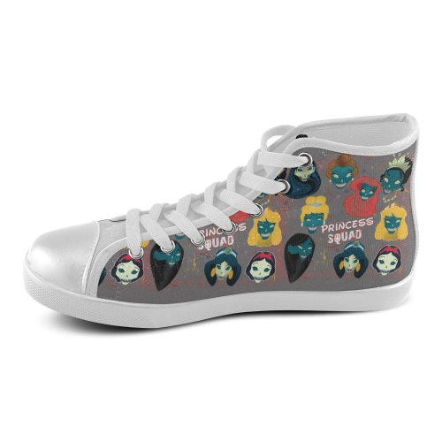 dee021cce06cd princess squad High Top Women's High Top Canvas Shoes (Model 002)