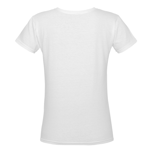 Summertime Treats Women's Deep V-neck T-shirt (Model T19)