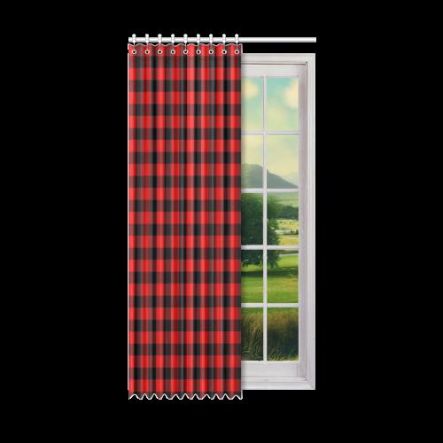 "LUMBERJACK Squares Fabric - red black Window Curtain 50"" x 96""(One Piece)"