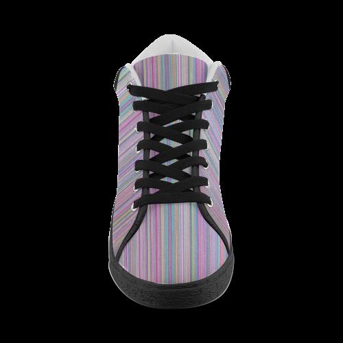Broken TV Screen Test Pattern Men's Chukka Canvas Shoes (Model 003)