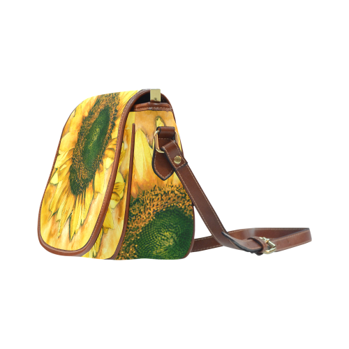 Painting Sunflower - Life is in full bloom Saddle Bag/Small (Model 1649) Full Customization