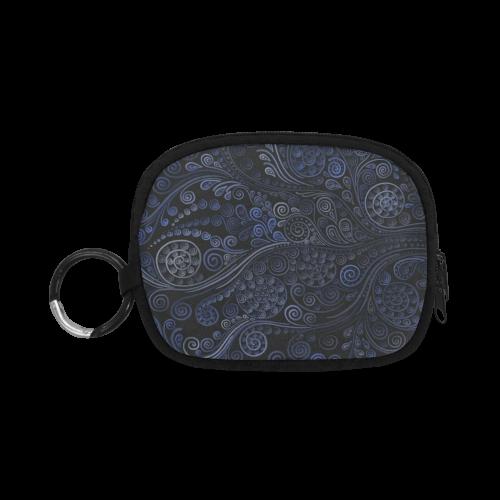 Ornamental blue on dark Coin Purse (Model 1605)