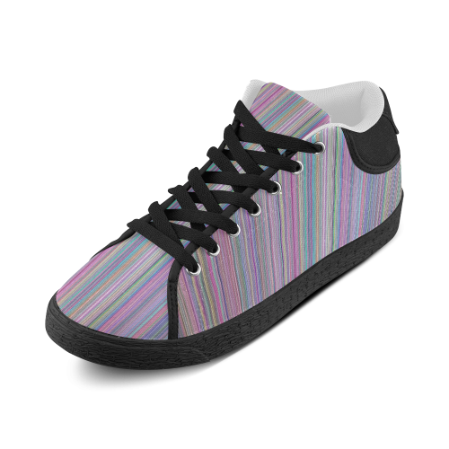 Broken TV Screen Test Pattern Men's Chukka Canvas Shoes (Model 003)