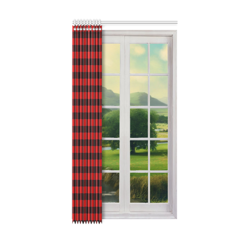 "LUMBERJACK Squares Fabric - red black Window Curtain 50"" x 96""(One Piece)"
