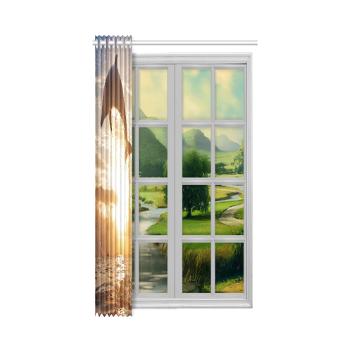 "Artsadd New Window Curtain 52"" x 63""(One Piece)"