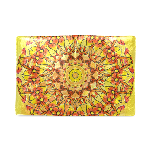 Orange Yellow Sunflower Mandala Red Zendoodle Custom NoteBook B5
