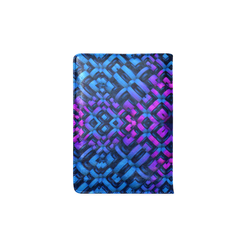 3-D Pattern in Neon Blue, Pink, and Black Custom NoteBook A5