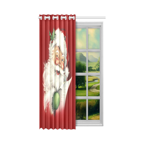 "A beautiful vintage santa claus New Window Curtain 52"" x 63""(One Piece)"