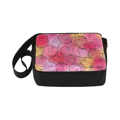 Red Pastel Roses. Inspired by the Magic Island of Gotland. Classic Cross-body Nylon Bags (Model 1632)