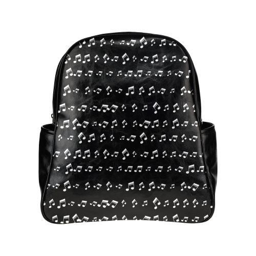 Musical Notes Multi-Pockets Backpack (Model 1636)