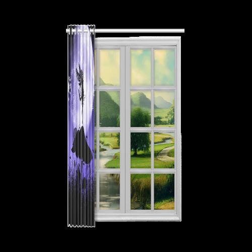 "A beautiful fairy dancing on a mushroom silhouette New Window Curtain 52"" x 84""(One Piece)"
