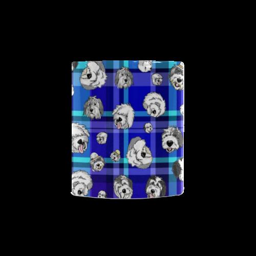 Plaid Sheepies-BLUE White Mug(11OZ)