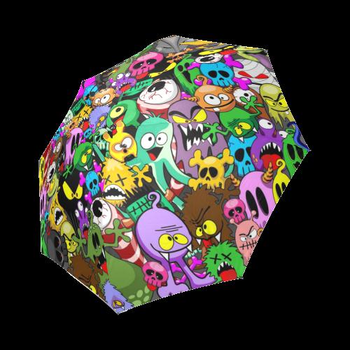 Monsters Doodles Characters Saga Foldable Umbrella