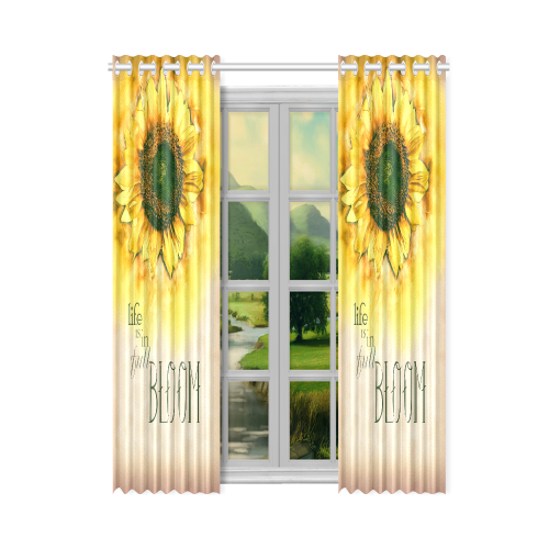 "Painting Sunflower - Life is in full bloom New Window Curtain 50"" x 84""(One Piece)"