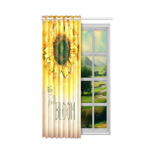 """Painting Sunflower - Life is in full bloom New Window Curtain 52"""" x 84""""(One Piece)"""