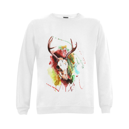 autumn Gildan Crewneck Sweatshirt(NEW) (Model H01)