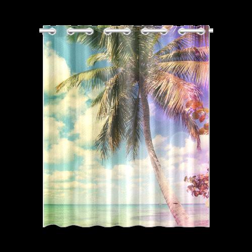 """Prismatic Palm New Window Curtain 52"""" x 63""""(One Piece)"""