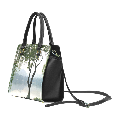 Weeping Willow Mountian View Classic Shoulder Handbag (Model 1653)